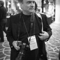 Photographer Stephen Barrett at the 2018 DC Bluegrass Festival - photo by Jeromie Stephens