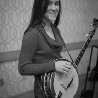 Rachael Hansel backstage at the 2018 DC Bluegrass Festival - photo by Jeromie Stephens