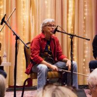 Alex Hargreaves, Darol Anger, and Jeremy Kittel workshop at Wintergrass 2018 - photo © Tara Linhardt