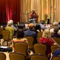 Darol Anger fiddle workshop at Wintergrass 2018 - photo © Tara Linhardt