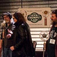 Mic tasting with Ear Trumpet Labs at Wintergrass 2018 - photo © Tara Linhardt