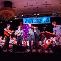 Kittel & Co with the youth orchestra at Wintergrass 2018 - photo © Tara Linhardt