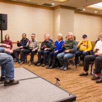 Mark Schatz hambone workshop at Wintergrass 2018 - photo © Tara Linhardt