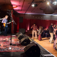 Matuto playing a dance in the Regency Ballroom at Wintergrass 2018 - photo © Tara Linhardt