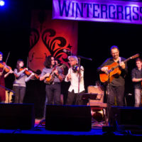 Mike Marshall and Darol Anger with special guests at Wintergrass 2018 - photo © Tara Linhardt