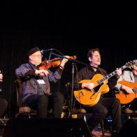 Pearl Django at Wintergrass 2018 (Michael Gray, David Lange, Jim Char, Rick Leppanen, Tim Lerch) - photo © Tara Linhardt