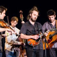 Jacob Joliff Band at Wintergrass 2018 (Alex Hargreaves, Jeff Picker, Jacob Joliff, Stash Wyslouch) - photo © Tara Linhardt