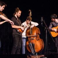 Jacob Joliff Band at Wintergrass 2018 (Alex Hargreaves, Jacob Joliff, Jeff Picker, Stash Wyslouch) - photo © Tara Linhardt