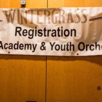 Youth Academy banner at Wintergrass 2018 - photo © Tara Linhardt