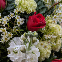Lovely flowers for Hazel Smith's funeral (March 24, 2018) - photo by Becky Johnson