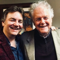Ronnie McCoury with Peter Rowan backstage at the Sweetwater Music Hall in Mill Valley, CA (March 2018) - photo by Gillian Grisman