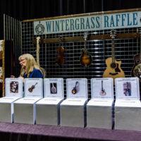 Raffle ticket booth at Wintergrass 2018 - photo © Tara Linhardt