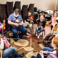 Youth Academy breakout class at Wintergrass 2018 - photo © Tara Linhardt