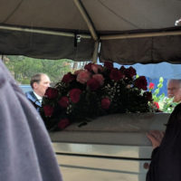 Graveside tent for Hazel Smith (March 24, 2018) - photo by Becky Johnson