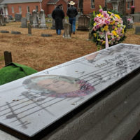 Customized monument for Hazel Smith (March 24, 2018) - photo by Becky Johnson