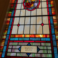 Stained glass window at Camp Springs United Methodist Church (March 24, 2018) - photo by Becky Johnson