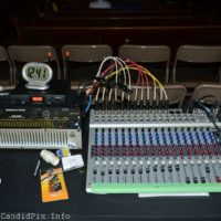 Sound board at the ready at the final Zellie's Opry House show (March 31, 2018) - photo © Bill Warren
