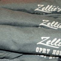 Shirts for sale at the final Zellie's Opry House show (March 31, 2018) - photo © Bill Warren