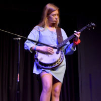 Halle Moore competes at the 2018 Georgia String Band Festival - photo by Bobby Moore