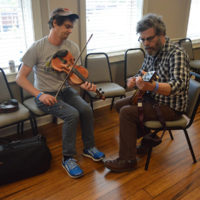 Backstage warmup at the 2018 Georgia String Band Festival - photo by Bobby Moore