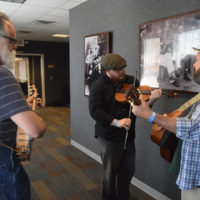 Backstage jam at the 2018 Georgia String Band Festival - photo by Bobby Moore