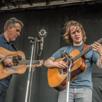 Bryan Sutton and Billy Strings at DelFest 2018 - photo by Brady Cooling