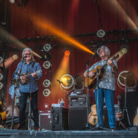 Ricky Skaggs and Del McCoury at DelFest 2018 - photo by Brady Cooling