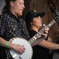 Corey Woodcock and Kate Avery with Mountain Ride at the May 2018 Gettysburg Bluegrass Festival - photo by Frank Baker