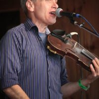 Scott Matlock with Mountain Ride at the May 2018 Gettysburg Bluegrass Festival - photo by Frank Baker