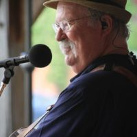 Dudley Connell with Seldom Scene at the May 2018 Gettysburg Bluegrass Festival - photo  by Frank Baker