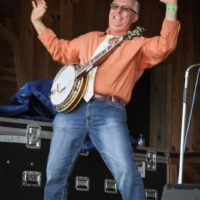 Billy Lee Cox with Remington Ryde at the May 2018 Gettysburg Bluegrass Festival - photo  by Frank Baker