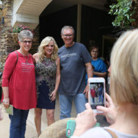 Fans take photos with Rhonda Vincent at Silver Dollar City (May 2018) - photo by Michael Cignoli
