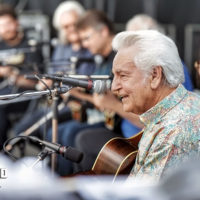 Del McCoury at the mandolin extravaganza at DelFest 2018 - photo by Good Foot Media
