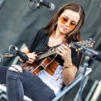 Sierra Hull does the mandolin extravaganza at DelFest 2018 - photo by Good Foot Media