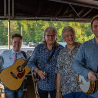 Ricky Skaggs & Kentucky Thunder with Del McCoury backstage at DelFest 2018 - photo by Mike McGreevy