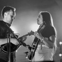 Justin Moses and Sierra Hull at DelFest 2018 - photo by Stuart Dahne