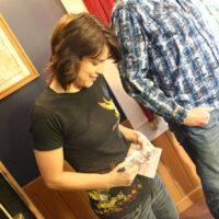 Kristin Scott Benson signs at Silver Dollar City (May 2018) - photo by Michael Cignoli