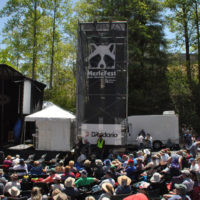 Sitting in the crowd on the Hillside Stage @ Merlefest - Photo by Alisa B. Cherry