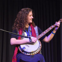 Hannah Underwood competes on banjo at the 2018 Georgia String Band Festival - photo by Bobby Moore
