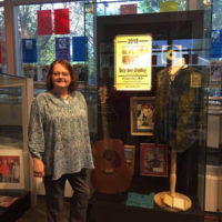 Dale Ann Bradley with her exhibit in the Kentucky Music Hall Of Fame