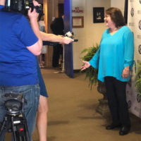 Dale Ann Bradley speaks with the media after her 2018 induction to the Kentucky Music Hall Of Fame