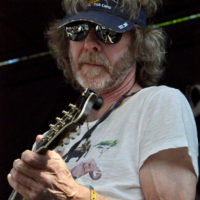 Sam Bush during The Waybacks' Album Hour at the Hillside Stage, Merlefest  Saturday, April 28th - Photo by Alisa B. Cherry