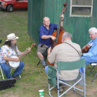 Parking lot pickers at the 2018 Armuchee Bluegrass Festival - photo by Bobby Moore