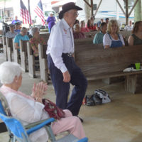 Audience participation at the 2018 Armuchee Bluegrass Festival - photo by Bobby Moore