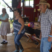 Dancing breaks out at the 2018 Armuchee Bluegrass Festival - photo by Bobby Moore
