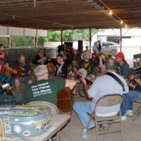 Wednesday jam at the 2018 Charlotte Bluegrass Festival - photo © Bill Warren