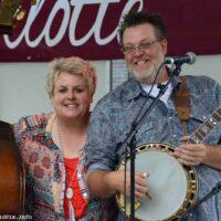 Lori and Brad Lambert at the 2018 Charlotte Bluegrass Festival - photo © Bill Warren