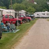Camper row visitation at Jenny Brook 2018 - photo by Darcy Cahill
