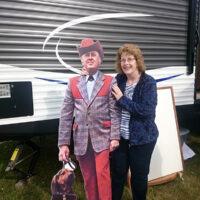 Jenny Brook promoter Candi Sawyer with Jimmy Martin - photo by Darcy Cahill