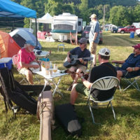 Campground pickin' at the 2018 Jenny Brook Bluegrass Festival - photo by Dale Cahill